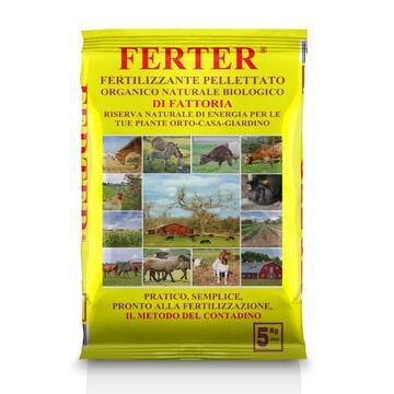 Ferter, fertilizzante pellettato organico naturale e biologico 5 Kg