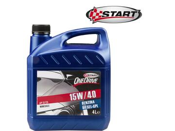 Olio per motori benzina, diesel, GPL, One Drive 15W40 da 4 litri.