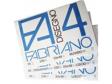 Carta da disegno Blocco Fabriano F4 liscio