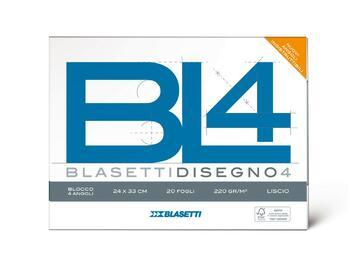 Blocco carta da disegno BL4 24x33 Liscio