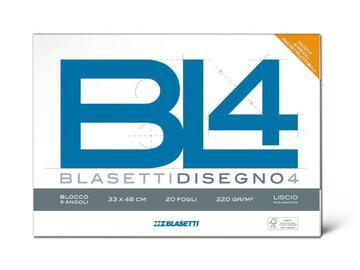 Blocco carta da disegno BL4 24x33 Riquadrato
