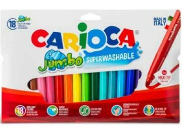 Confezione 18 pennarelli Carioca Jumbo