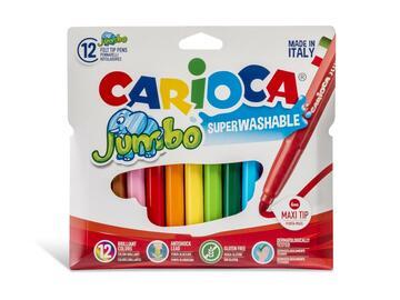 Confezione 12 pennarelli Carioca Jumbo