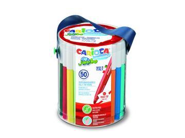 Confezione 50 pennarelli Carioca Jumbo