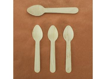 12 Cucchiaini decorativi in legno