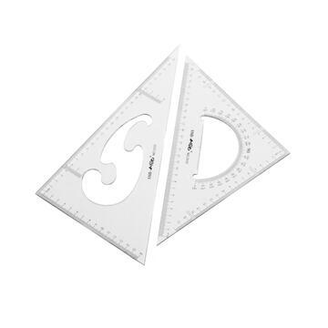 Confezione 2 squadre da disegno 30 cm.triangolo equilatero e triangolo scaleno