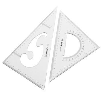 Confezione 2 squadre da disegno 40 cm.triangolo equilatero e triangolo scaleno