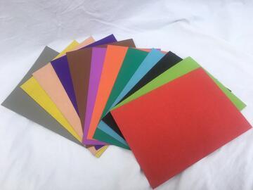 12 Cartoncini colorati 80Gr