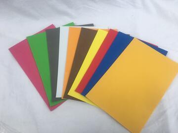 Confezione 10 fogli Eva A4 Colorati assortiti