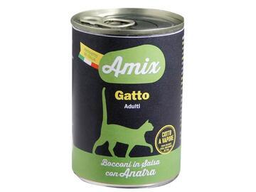 Amix Cat 400 gr anatra cibo per gatti