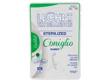 LeChat Busta Sterilized 100 Gr Coniglio cibo per gatti