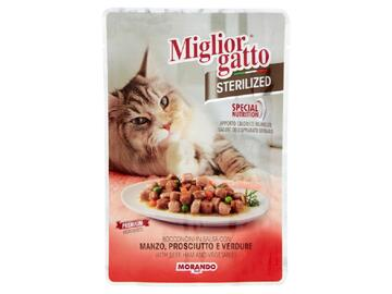 Miglior Gatto Sterilized gr.85 Manzo Prosciutto e Verdure cibo per gatti