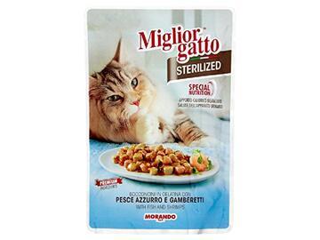 Miglior Gatto Sterilized gr.85 Pesce azzurro e gamberetti cibo per gatti
