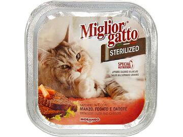Miglior Gatto Sterilized gr.100 Manzo Fegato e Carote cibo per gatti