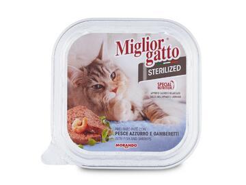 Miglior Gatto Sterilized gr.100 Pesce azzurro e gamberetti cibo per gatti