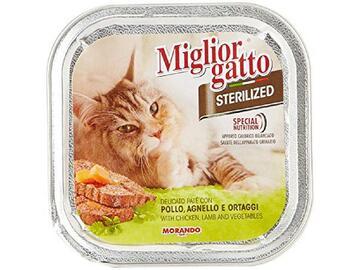 Miglior Gatto Sterilized gr.100 Pollo Agnello e Ortaggi cibo per gatti