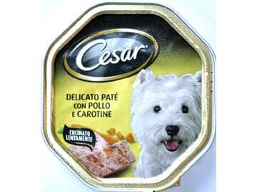 Cesar 150 gr Delicato pate' con Pollo e Carotine cibo per cani