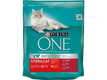 One 800 gr Sterilcat Manzo Croccantini cibo per gatti