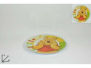 Piatto per bambini con decoro Winnie The Pooh, 20 cm.