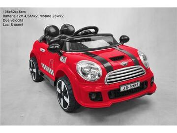 Coupe rally rosso per bambini, a batteria, con luci e suoni e due velocita.