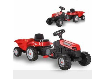 Fai divertire il tuo bambino con il classico trattore con rimorchio a pedali, un gioco semplice ma unico!