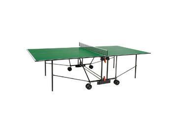 Tavolo da ping pong per interno. Il piano gioco, con misure regolamentari da torneo, e realizzato in materiali adatti a ottenere una buona qualita nel rimbalzo della pallina.