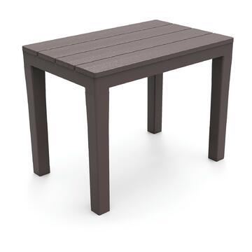 Tavolino/Panca da esterno Timor in plastica color moka 60 X 40