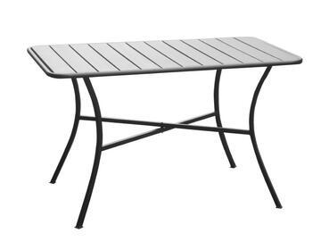 Tavolo in metallo da esterno, moderno e dallo stile...