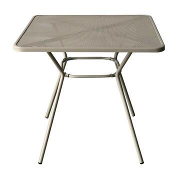 Tavolo da esterno Mesh in metallo crema 80 x 80