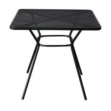Tavolo da esterno Mesh in metallo nero 80 X 80