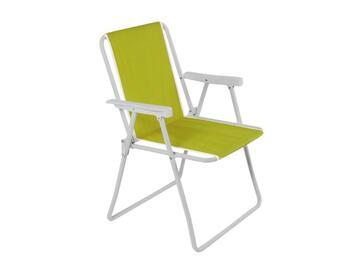 Classica sedia con struttura in metallo e seduta in tessuto. Resistente agli agenti atmosferici, comodita assicurata grazie ai braccioli.