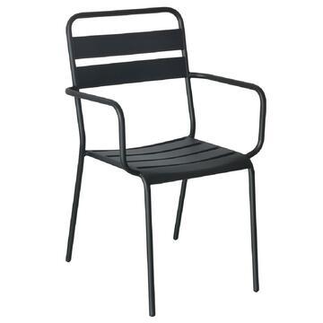 Sedia da esterno Franky in metallo nero
