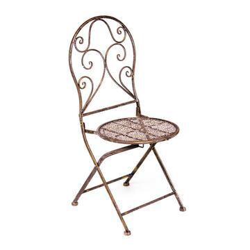 Elegante sedia da giardino in bronzo!