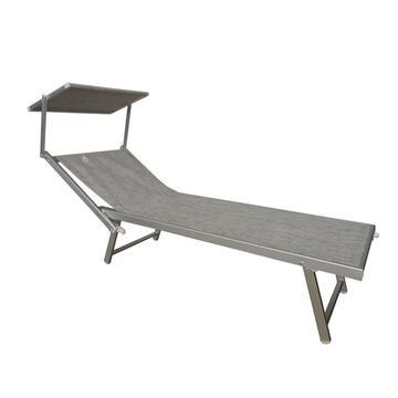 Classico lettino mare, resistente alle intemperie. Comodo con lo schienale regolabile, ideale per la tua pausa relax.