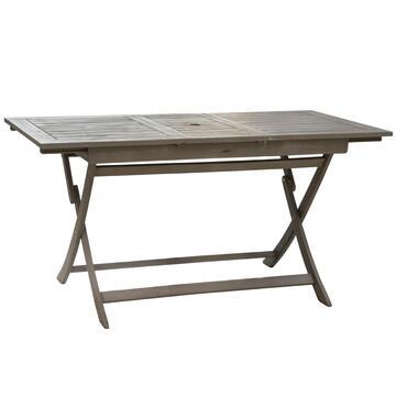 Tavolo da esterno in legno grigio Portofino 115 X 75, estendibile con apposito spazio per ombrellone