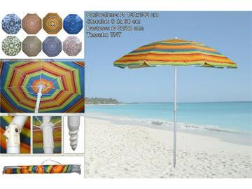 Classico ombrellone adatto alle tue vacanze al mare! Disponibile in varie fantasie, composto da bastone stabile e facile da fissare.