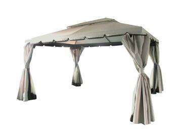 Elegante gazebo 3 m x 4 m.  Ottima struttura in metallo decorato con tendaggi.