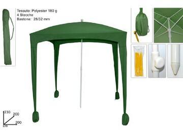 Ombrellone/gazebo da esterno 2 X 2 verde