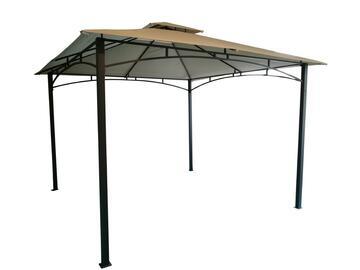 Elegante gazebo da esterno, con struttura in metallo, 300x300