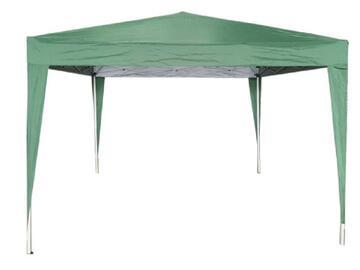 Gazebo richiudibile da esterno 3 X 3 verde struttura in alluminio e copertura in poliestere