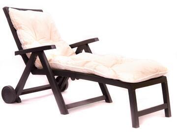 Cuscino imbottito per lettino, comodo e morbido, in color ecru.