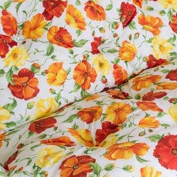 Cuscini imbottiti per dondolo 4 posti Papavero con tenda parasole abbinata