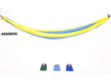Amaca in nylon e seta, 275x136 cm. Disponibile in colori assortiti.