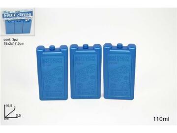 Set di 3 mattonelle di ghiaccio sintetico, da 110ML, per mentenere freschi cibi e bevande.