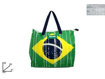Borsa frigo per spesa, con stampa Brazil